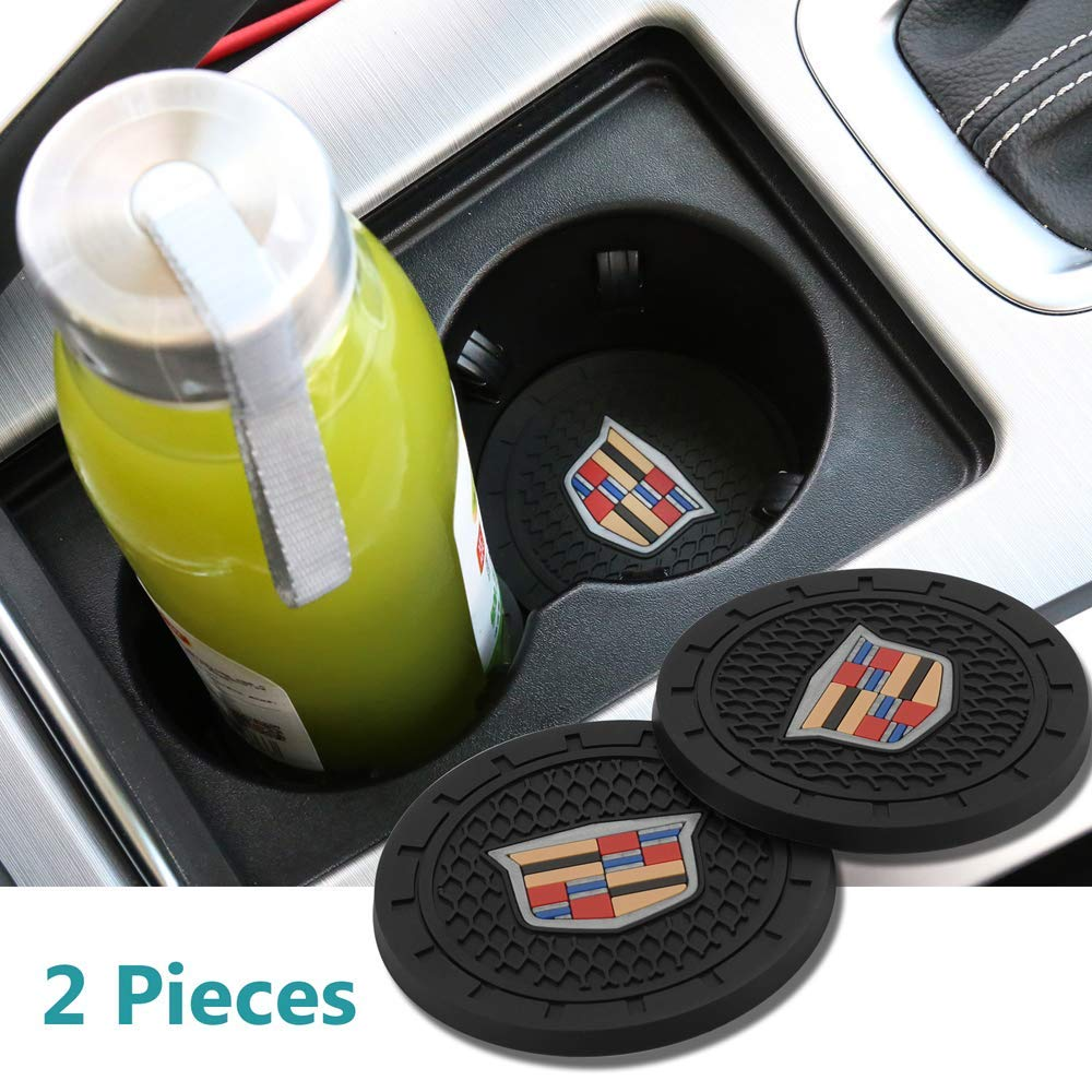 Ford Auto sport 2.75 Inch Diameter Oval Tough Car Logo Vehicle Travel Auto Cup Holder Insert Coaster Can 2 Pcs Pack