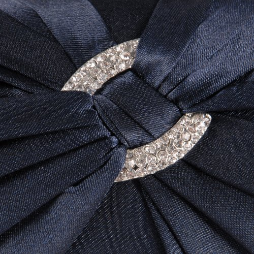c69244a2d21 Anladia Satin Diamante Pleated Evening Clutch Bag Bridal Handbag Prom Purse
