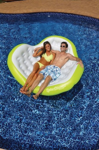 56.5 Water Sports Inflatable Lotus Blossom Swimming Pool Float for Two People by Swim Central