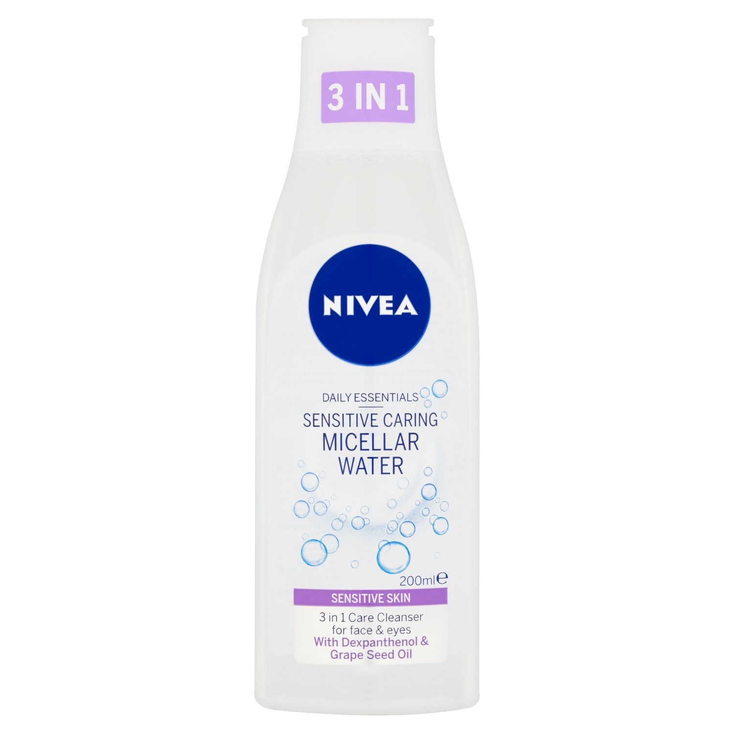Nivea giornalieri Essentials 3-in-1 Sensitive Caring Micellare Acqua, 200ml - Confezione da 3 Beiersdorf UK Ltd 82382