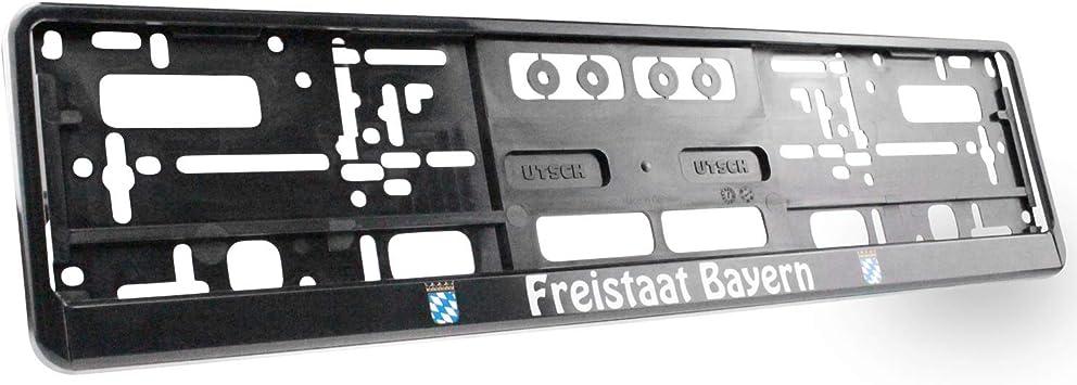 Kennzeichenhalter Freistaat Bayern Universell Für Vorne Und Hinten Stabil Und Witterungsbeständig Auto