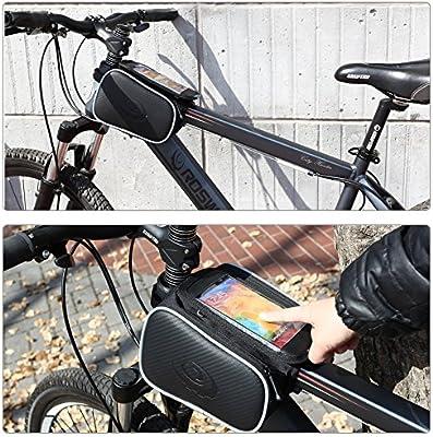 DCCN Alforja Bolso Bolsa Funda Móvil de Bicicleta Bici Bolso del Tubo del Frente del Marco para teléfono 5.5