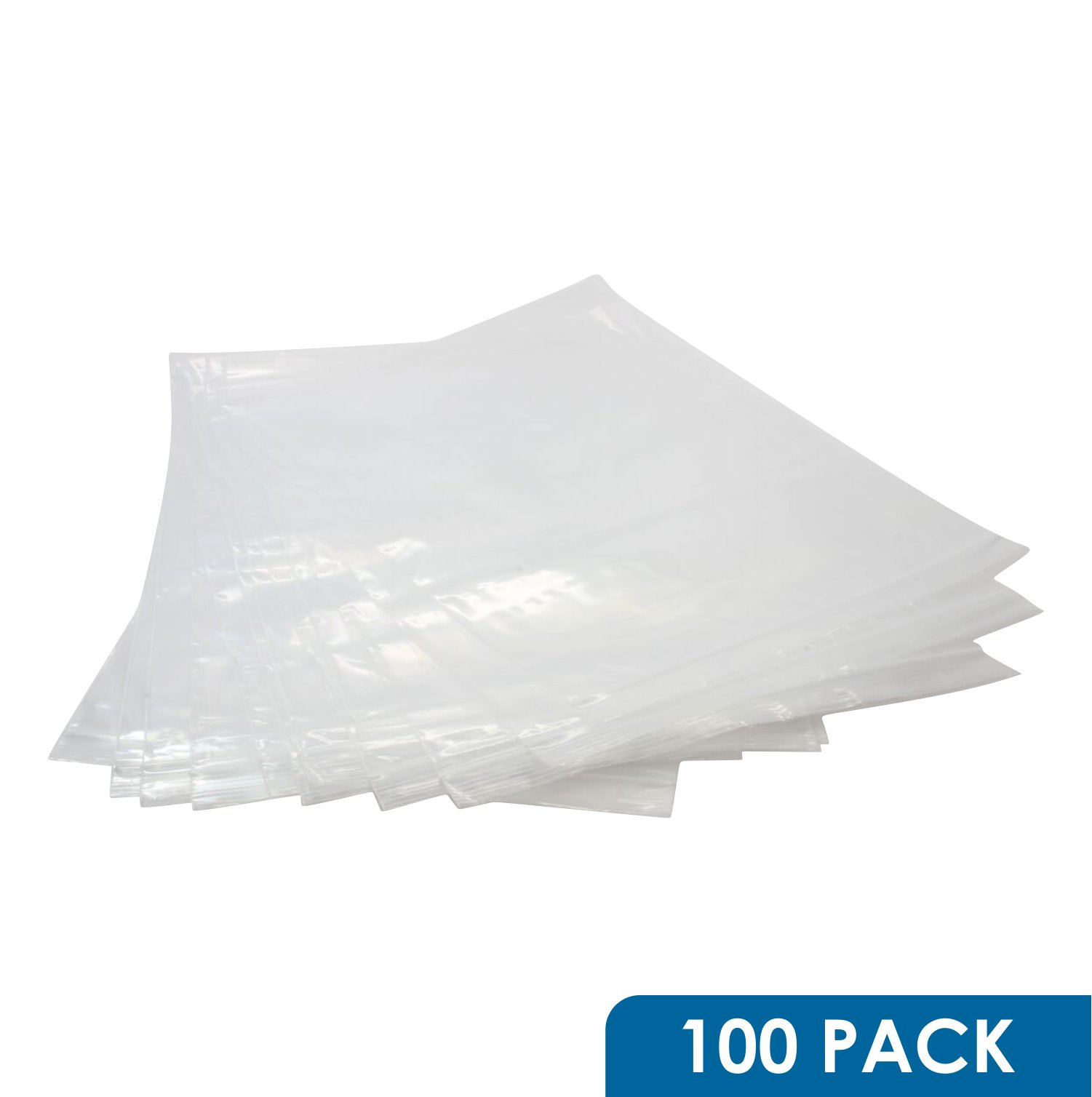 Rok Hardware 100 Pack 9'' x 12'' Heavy Duty Resealable 4Mil Thick Plastic Clear Poly Big Zip Lock Food Safe Storage Bags