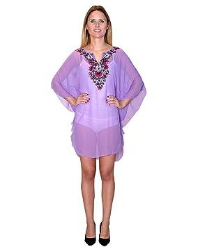 Bayside Barcelona blusa de caftán bordada de fiesta de gasa talla g
