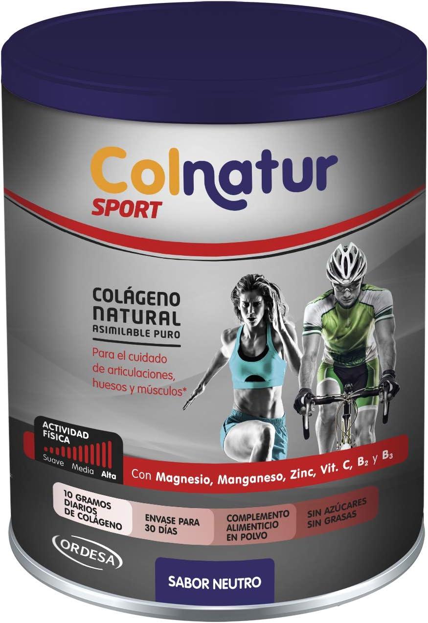 Colnatur Sport – Colágeno Natural Puro para Cuidar las Articulaciones y Músculos de la Actividad Física, Sabor Neutro, 330 gr.