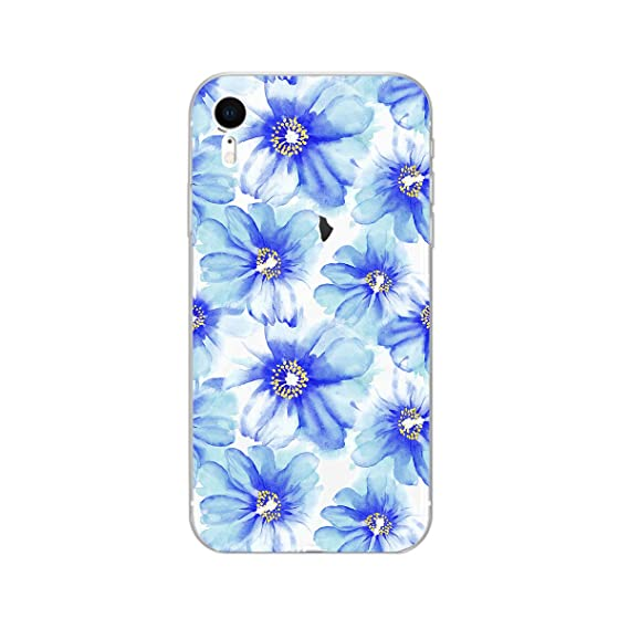 uk availability aa253 9048f Amazon.com: iPhone XR Case, Peachy Life Cute Clear Flower Style Soft ...