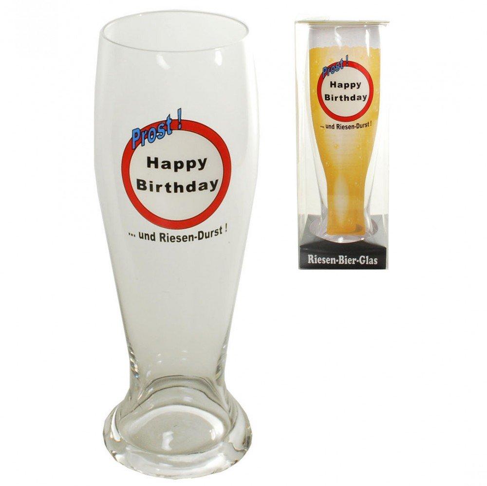 Riesen Bierglas zum Geburtstag Happy Birthday 1,5l