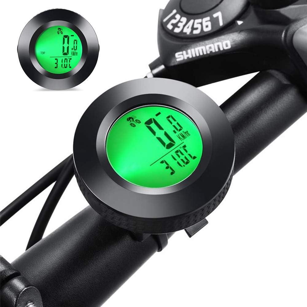 Multifunktion Fahrradtacho Kabellos Wasserdicht Tachometer Upworld Fahrradcomputer Kabellos Kilometerz/ähler mit LCD Hintergrundbeleuchtung und 8 Sprache f/ür Radsport Radgeschwindigkeits Tracking
