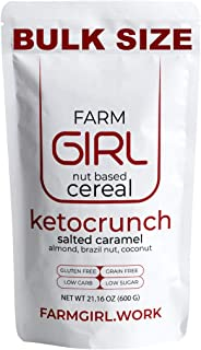 Farm Girl Breakfast Keto Granola - Delicious Taste - Low Carb Cereal, Gluten & Grain Free- High Fat, High Protein Keto Cereal