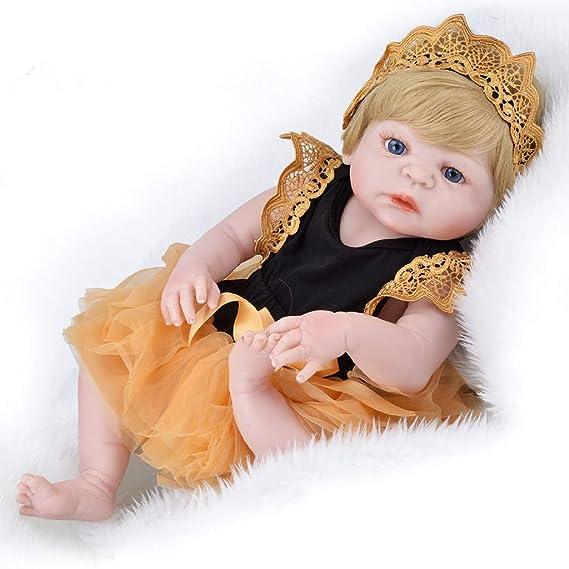 tianranrt vida real Baby muñeca 55 cm recién nacido muñeca niña parte Camarada regalo de cumpleaños, Amarillo: Amazon.es: Bricolaje y herramientas