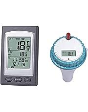 ShiyiUp Thermomètre pour Piscine Thermomètre Numérique pour Etang et Eau de Piscine, écran LCD