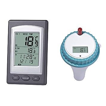 ShiyiUp Termómetro para Piscina Agua termómetro: Digital & Pool de estanques, Pantalla LCD,