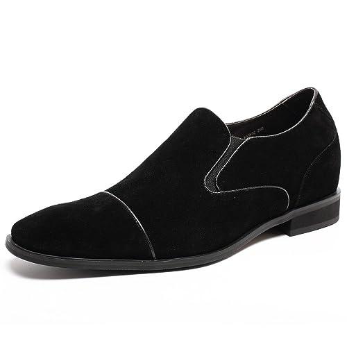 CHAMARIPA Zapatos Mocasines de Gamuza Hombre para ser 7 cm más Alto - K65K02 (37