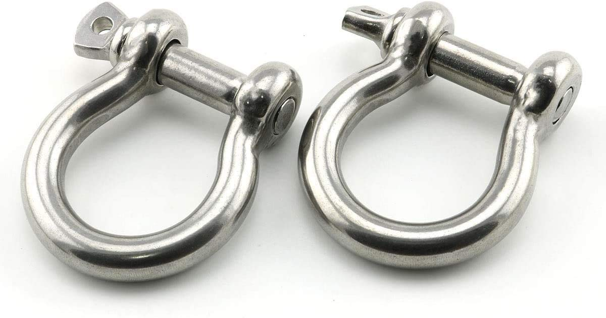 4 with Shackles 3//16 Stainless Steel 316 Anchor Chain 4 6 8 10 15 20 with 1//4 Bow Shackles