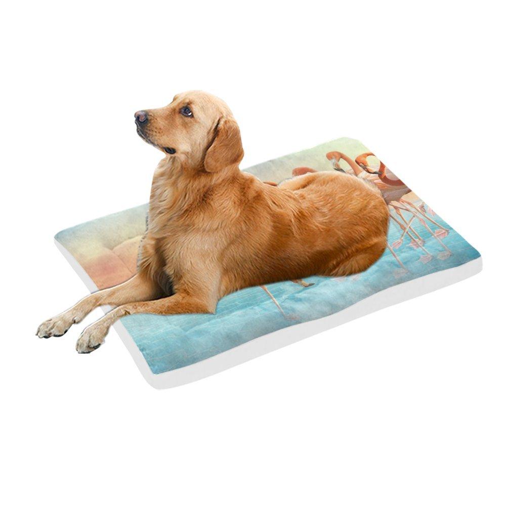 42\ your-fantasia Fantasy Flamingo Pet Bed Dog Bed Pet Pad 42 x 26 inches