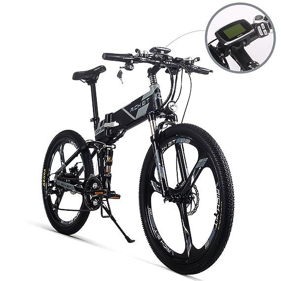 eBike_RICHBIT RLH-860 bicicleta eléctrica bicicleta de montaña plegable MTB e bicicleta 36V * 250W 12.8Ah litio - batería de hierro 26inch rueda integrada ...
