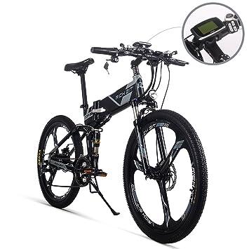 Bicicleta de montaña plegable eléctrica para hombre TB RT860. Baterí