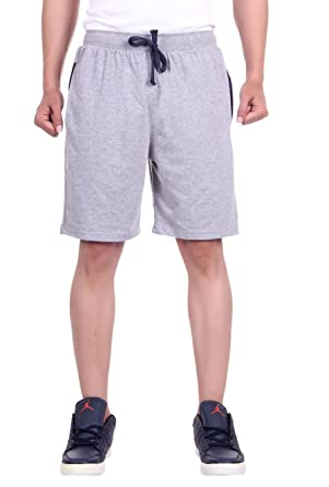 DFH Men's Cotton Shorts Grey Shorts at amazon