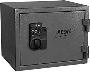 AEGIS 0.69 CF Fireproof Safe Electronic Security Cabinet- Safe and Lock Boxes with Keypad Lock and Keys, Money Box, Safety Boxes for Home Office Hotel Business Cash Jewelry Wallet