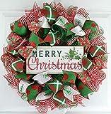 Merry Christmas Wreath | Mesh Christmas Wreath