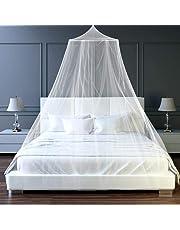 htovila - Mosquitera Universal de Color Blanco con diseño de cúpula y mosquitera de fácil instalación, para Colgar en la Cama, para Camas de tamaño Individual o King