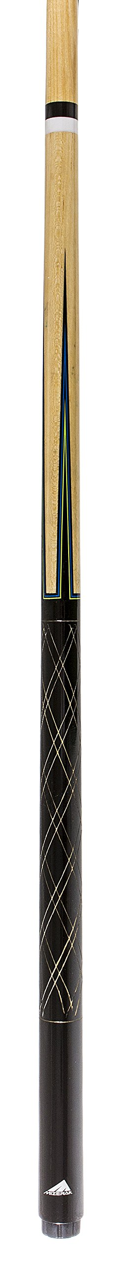 Mizerak 57'' House Cue (2-Piece) with 12mm Ferrule with Leather Tip, Hardwood Construction and High Gloss Finish