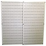 Wall Control 30-P-3232BE Metal Pegboard Pack, Beige