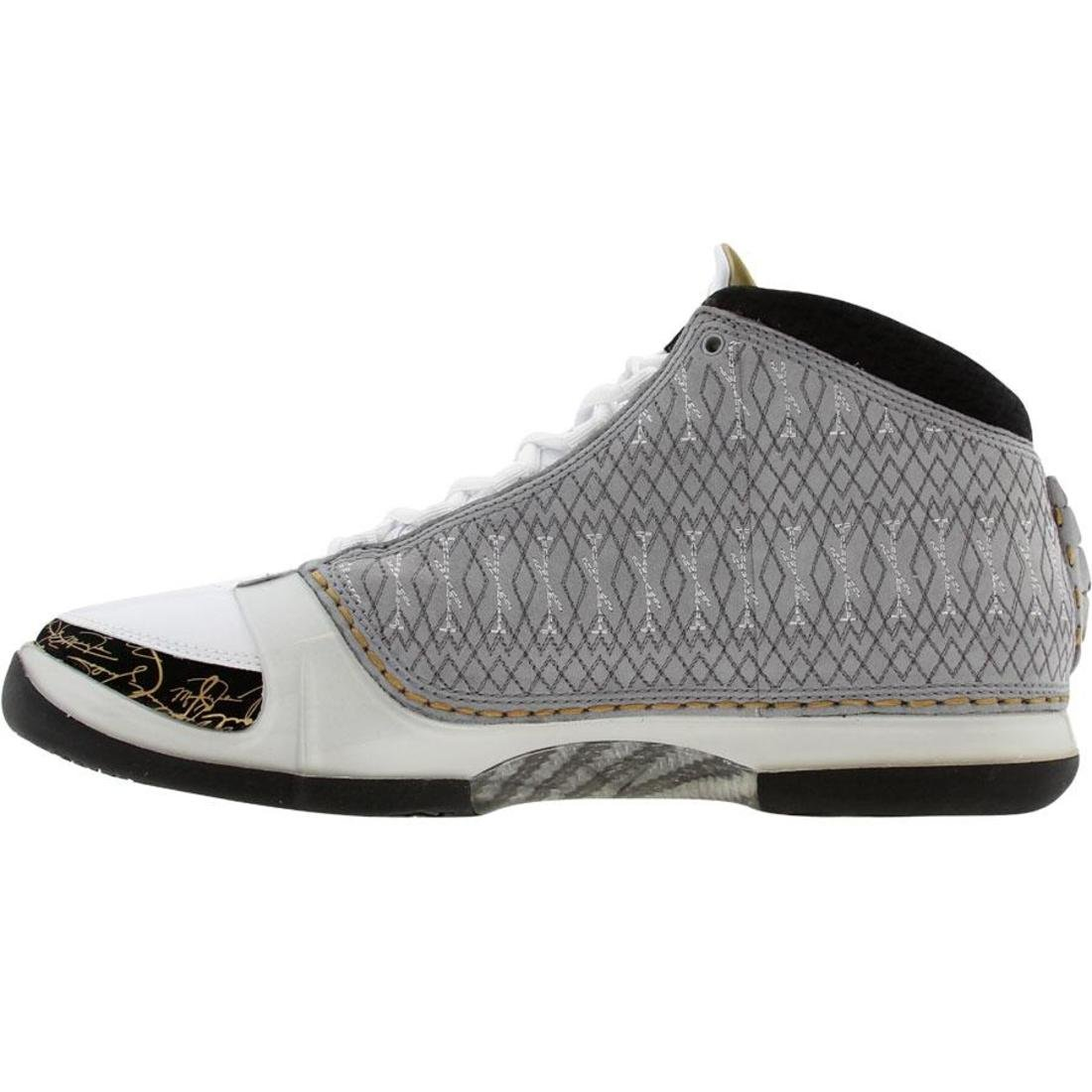 new style ae496 461a2 Amazon.com   Nike Air Jordan Men XX3 23 (white   stealth   black   metallic  gold) Size 9 US   Shoes