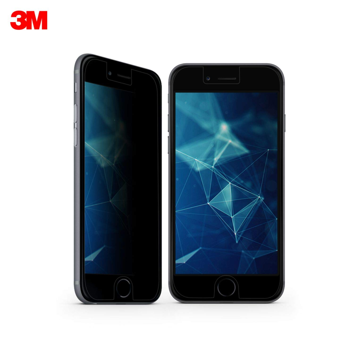 3M Privacy Screen Protector for Apple iPhone 6/6S/7/8(MPPAP001) , Scratch  Resistant, Black