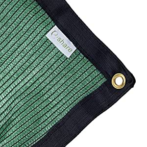 E.share 70% Green Shade Cloth Taped Edge with Grommets UV 12 ft X 12 ft
