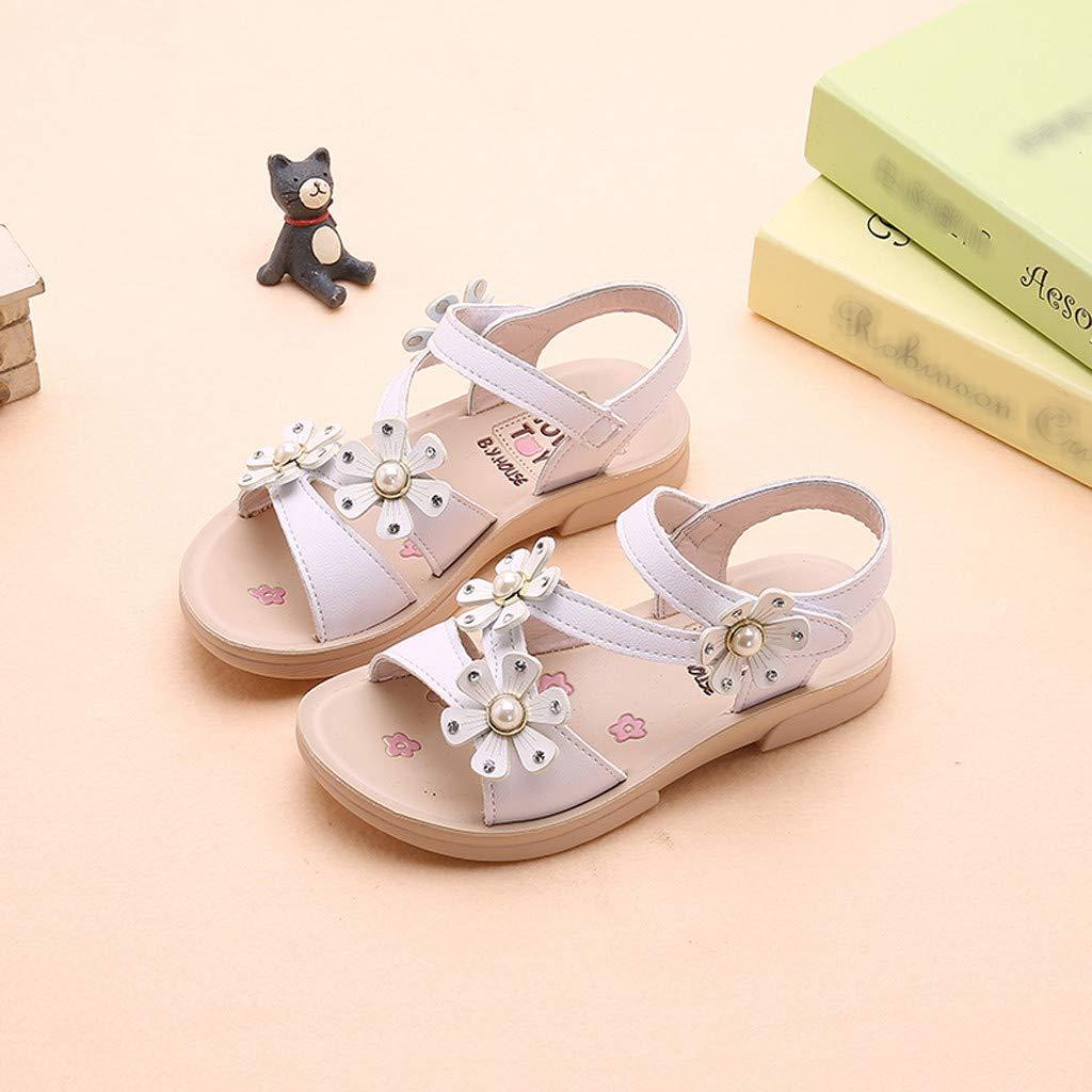 MALLOOM Summer Flower Sandals Children Girls Bohemian Casual Princess Flat Shoes
