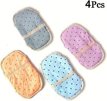 April Story 4Pcs Reutilizable Lavable Menstrual Compresa Almohadillas Evitar Fugas Olores Cojín Algodón Más Saludable 14cm(5.5inch): Amazon.es: Deportes y aire libre