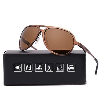 ELIVWR Pilotenbrille Sonnenbrille Herren Polarisier Metallrahmen Leicht für Autofahren, 100% Schutz vor Schädlichen UVA/UVB S
