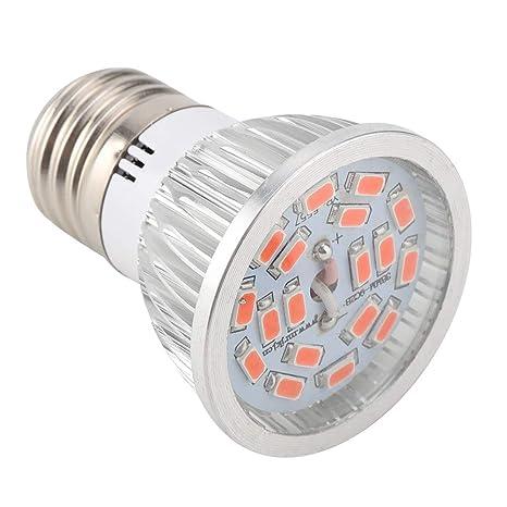Riuty Bombilla LED de Crecimiento de 6W E27 de Espectro Completo para Invernadero de Plantas de