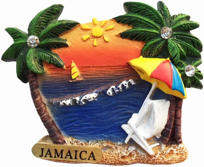 Jamaica 3D Fridge Magnet Travel Souvenir Gift Collection, Home Kitchen Decoration Magnetic Sticker Jamaica Refrigerator Magnet