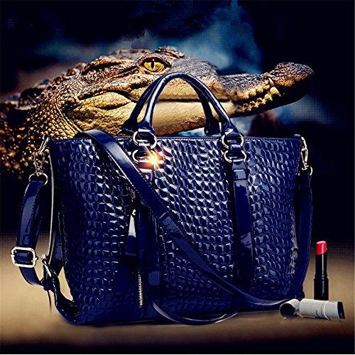 Winter Shoulder Big Fangyou1314 Crocodile color Pattern Red Bag Autumn Blue And Shoulder Bag I6ddTzx