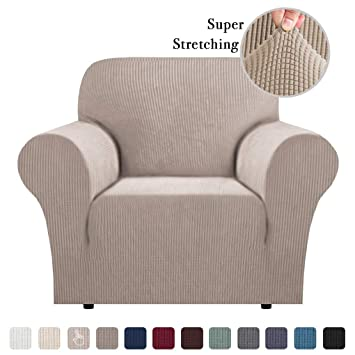 Washable Stretch Chair Covers Couch Slip Sofa Covers For Living Room Soft Spandex Jacquard Slipcover Furniture Cover Bonus Form Sticks Skid