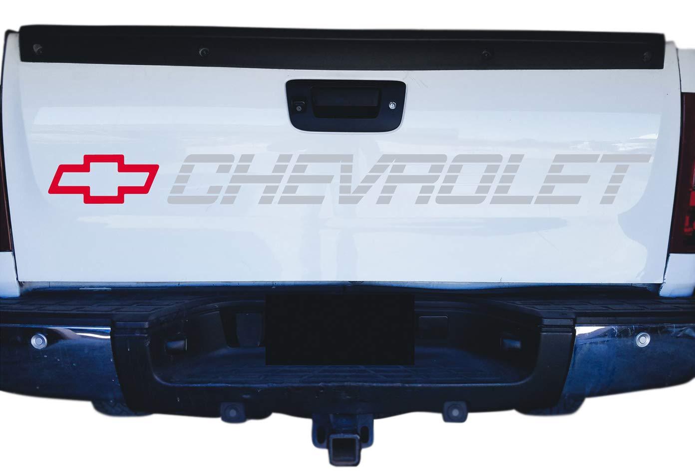 Tahoe Trucks Bed or Window Sticker Silverado Grey Metallic Decal for Chevrolet Colorado
