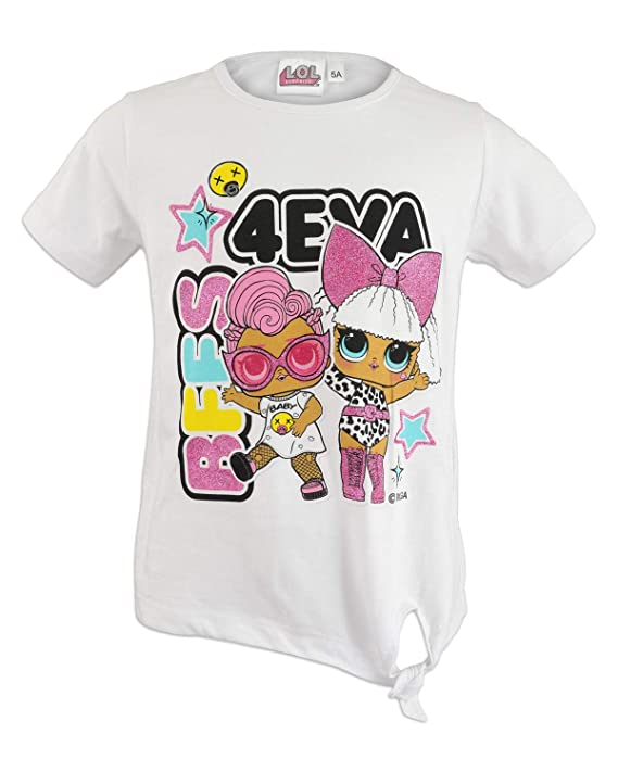Characters Cartoons LOL Surprise – Camiseta de manga corta para niña – Producto original con licencia oficial 1307 Bianco 122 cm (7 años): Amazon.es: Ropa y accesorios