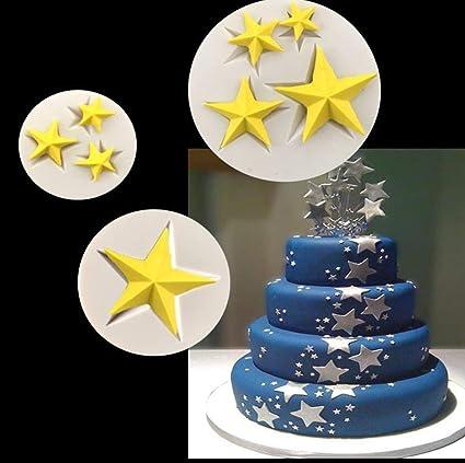 Amazon Com Star Silicone Mold 3pcs Set 8pcs Star 3d Stars Shape