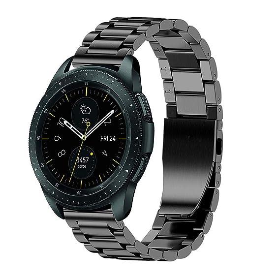 JiaMeng Diamante Pulsera de Reloj Reemplazo Banda Correa de Lujo del reemplazo de la Pulsera del Acero Inoxidable para el Reloj del Samsung Galaxy ...