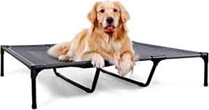 HACHIKITTY Raised Dog Beds Medium Dogs, Elevated Dog Beds Dog Cots, Portable Outdoor Dog Bed Large, Extra Large