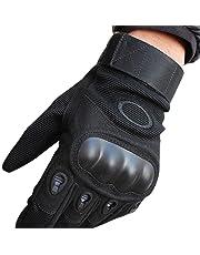 Guantes de Moto Protección de Antideslizante Dedo Completo Deportes al Aire Libre, Guantes de Tácticos Militar para Bicicleta / Motociclistas / Alpinismo / Motociclismo / Excursión Bici Ciclismo de Montaña Guante para Hombre Y Mujer (Grande)
