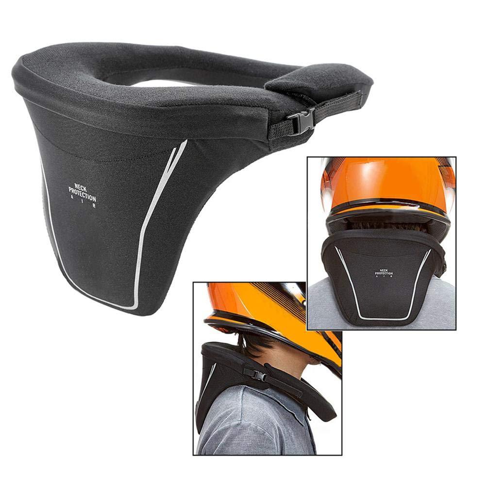 Soft Neck Support Lindert Schmerzen /& Druck In Der Wirbels/äule Knight Equipment Sturdy Motorrad Hals-Protektor Nackenschutz overlookTW Motorrad-Nackenst/ütze F/ür Erwachsene Mit Reflexstreifen