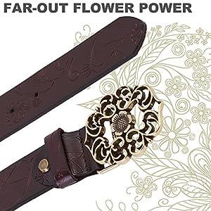 NormCorer Cintura di fibbia in pelle di cuoio genuino per i jeans