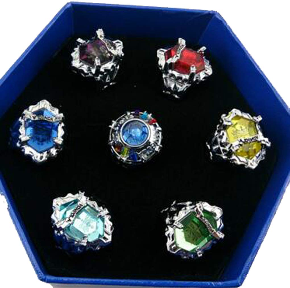 Weeck Anime Girl's Party Hitman Reborn! Cosplay Accessory Vongola Rings with Necklace (8)