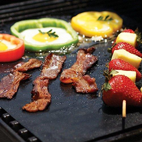 Grillaholics Grill Mat – Lifetime Guarantee – Set of 2 Nonstick BBQ Grilling Mats – 15.75 x 13 Inch