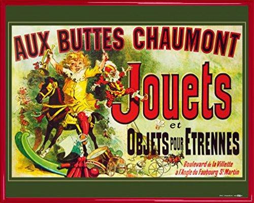 Vintage Poster Art Print and Frame (Plastic) - Aux Buttes Chaumont, Jouets Et Objets Pour Étrennes, Jules Cheret, 1885 (20 x 16 - Anniston Style Jennifer