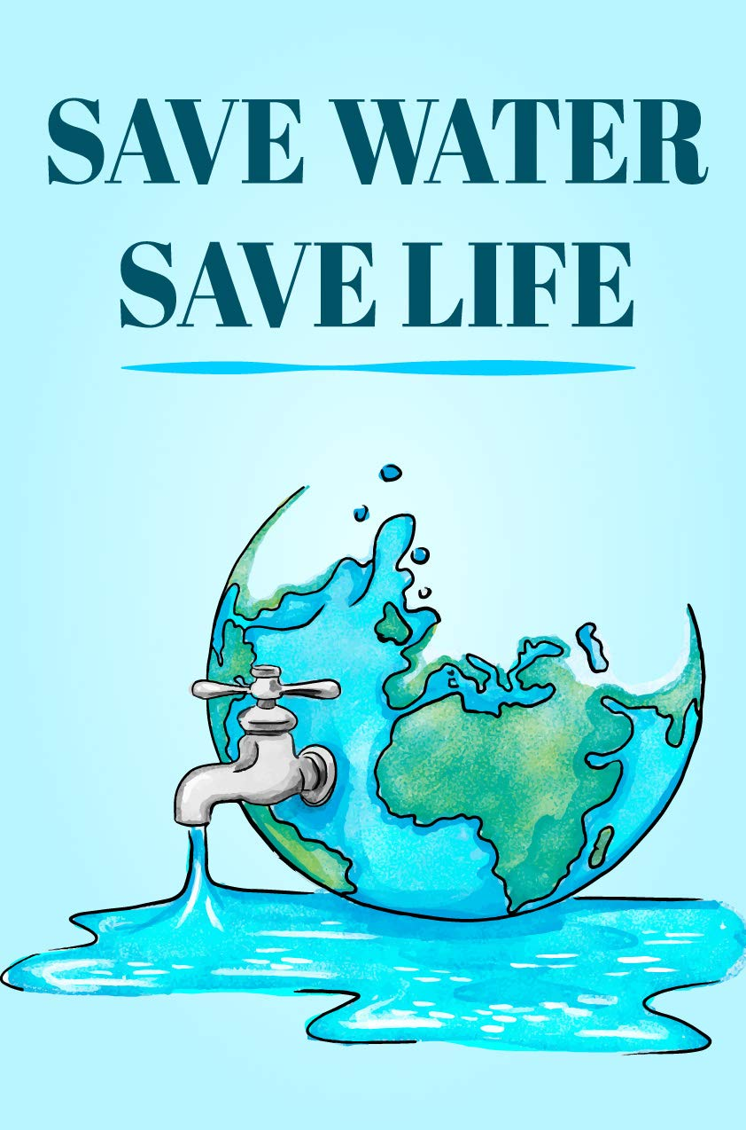 Quasar Crystal Save Water Save Life Environment Quote Poster