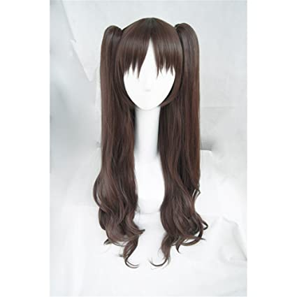 LanTing Cosplay Peluca Fate Stay Night Zero Tohsaka Rin BROWN LONG WAVY CLIP Cosplay Party Fashion